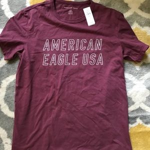 2/$5 Men's purple American eagle t-shirt NWT